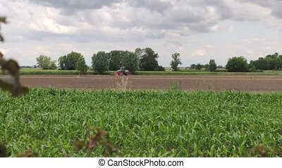 panorama, tracteur, agricole