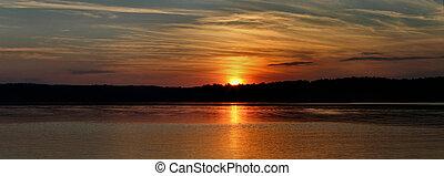 panorama, tramonto
