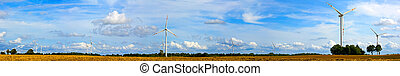 panorama, turbinas, vento