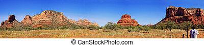 panorama, vallée, -, paysage, monument
