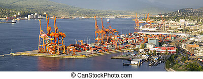 panorama, vancouver, port