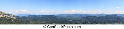 Panorama view from the top of mountain