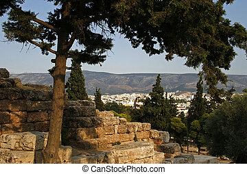 panorama view of Athens. Greece