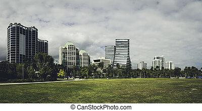View of Coconut Grove Florida in Miami