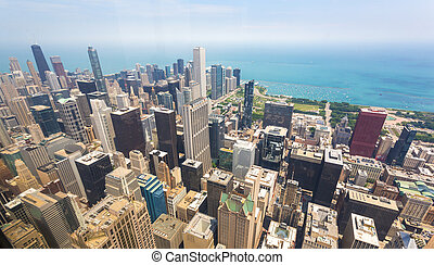 Panorama view of downtown Chicago