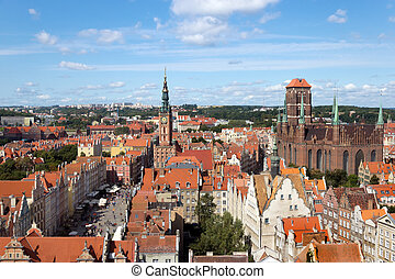 Panorama view of Gdansk, Poland
