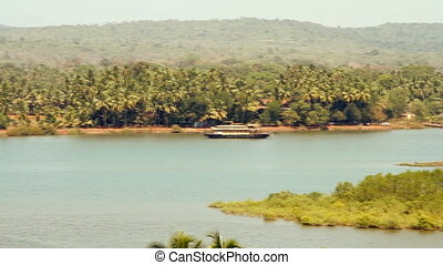 Panorama view of Goa nature in India