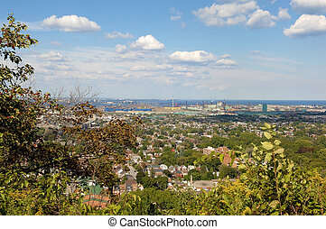 Panorama view of Hamilton, Canada.