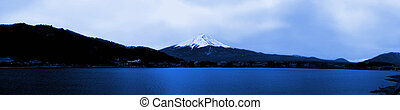 Panorama view of mountain Fuji in the early morning Japan