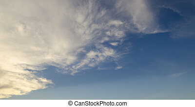 Panorama view of sky and cloud, can be used for background