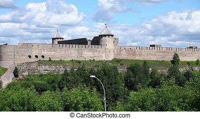 panorama view of the Ivangorod Fort