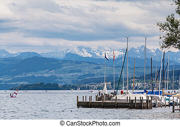 Panorama View of Zurich Lake