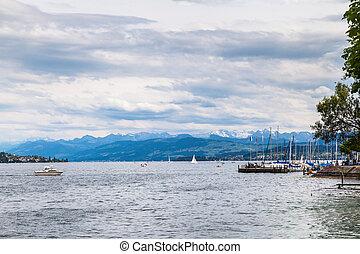 Panorama View of Zurich Lake