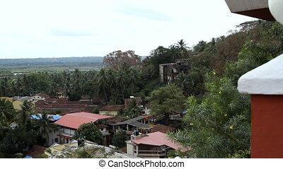 Panorama view on the Panjim city