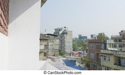 Panorama view over Kathmandu city with roofs, Nepal