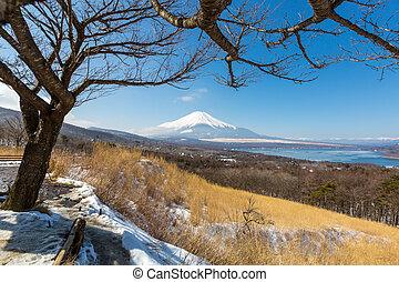 panorama view point Fujisan Yamanaka Lake - Aerial panorama ...