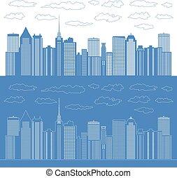 panorama, villes