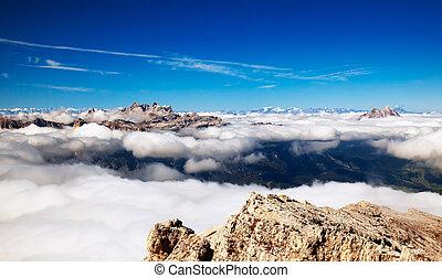 panorama, von, hohe berge, -, alps