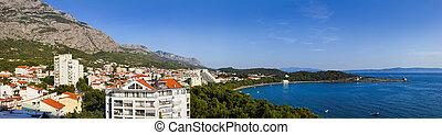 panorama, von, makarska, an, kroatien