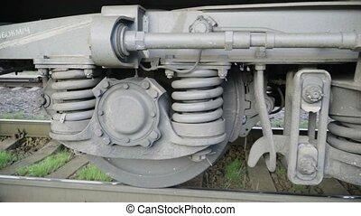panorama, wielen, wagen trein