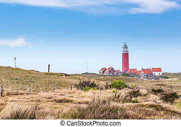 Panorama with lighthouse Texel Netherlands
