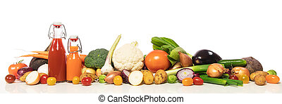 panorama with various vegetables