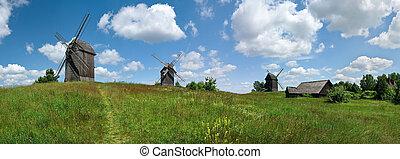 Panorama with windmills