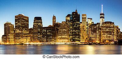 panorama, york, nuevo, ciudad