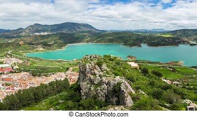 Panorama Zahara Andalusia - Spectacular aerial view panorama...