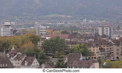 The panorama of Zurich cityscape