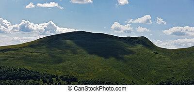 panoramatický, hora, bieszczady