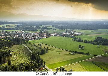 panoramic aerial view Bavaria