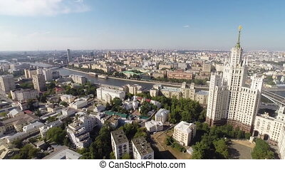 Moscow - Panoramic aerial view of the center of Moscow with ...