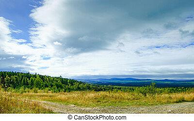 panoramic autumn landscape