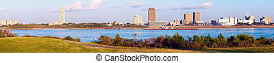 Panoramic Baton Rouge - seen late afternoon