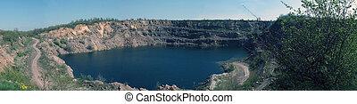 panoramic blue lake