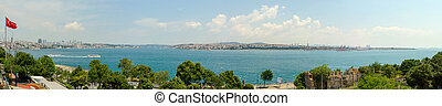 Panoramic bosphorus bridge Istanbul
