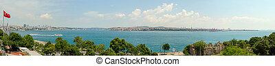 Panoramic bosphorus bridge Istanbul
