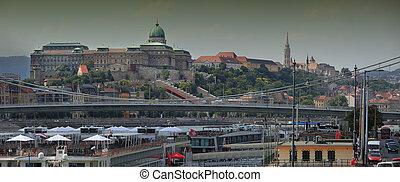 Royal palace - panoramic Budapest Royal palace. Hungary.