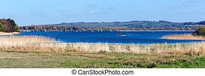 Panoramic Chew Lake Somerset UK - Chew Valley Lake and...
