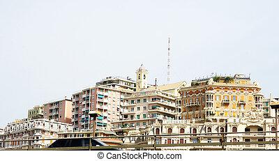 Panoramic city of Genoa