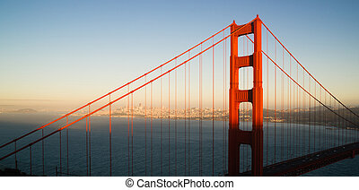 Panoramic Golden Gate Bridge San Francisco Marin County ...