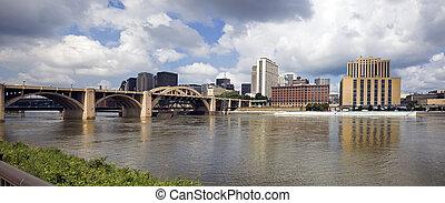 Panoramic Grand Rapids, Michigan, USA. - Architecture of ...