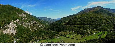 Panoramic image of Montenegro