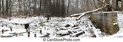 river in the winter
