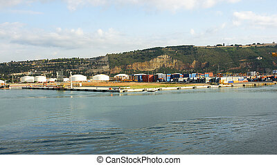 industrial zone in the port