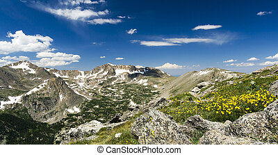 Panoramic Landscape in the Colorado Rocky Mountains
