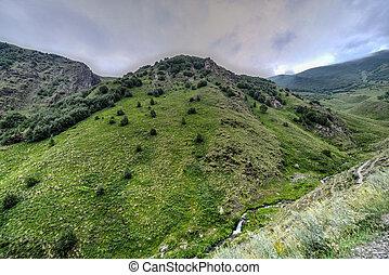 Panoramic Landscape - Kazbegi, Georgia