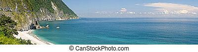 Panoramic landscape of ocean