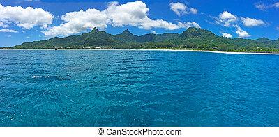 Panoramic landscape view of in Rarotonga, Cook Islands - ...